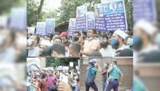 E-orange customers stage protests, police charge baton
