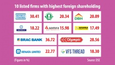 Ten listed firms make up most foreign portfolio investments