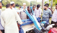 Mechanising cultivation process stressed