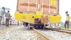 Freight train derailed at Moghbazar