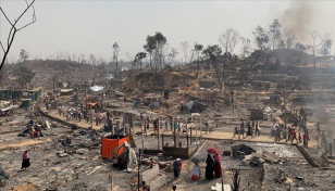 S Korea gives $1m for fire victim Rohingyas